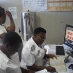 Viewing VIAC images, St. Albert's Mission Hospital. Photo provided by St. Albert's Mission Hospital, June 2014.