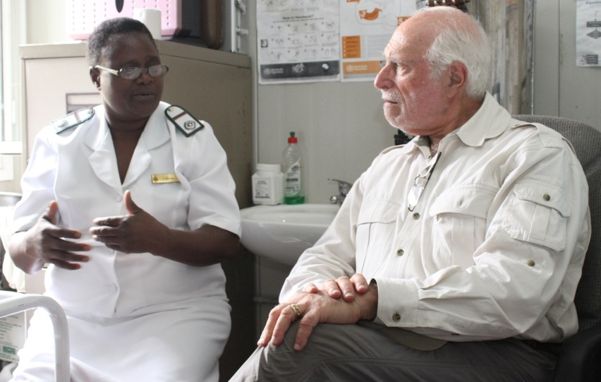 Dr. Lowell Schnipper and VIAC screening clinic manager Mrs. Angeline Bowman, registered midwife