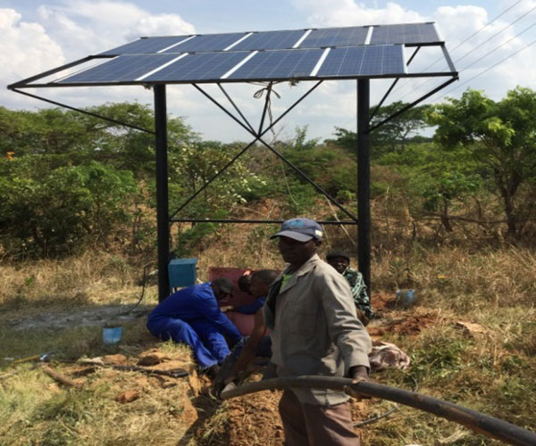 Better Healthcare for Africa solar pump installation