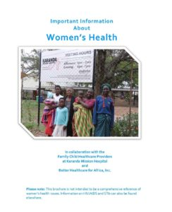 "Image of the brochure ""Important Information About Women's Health,"" English version"