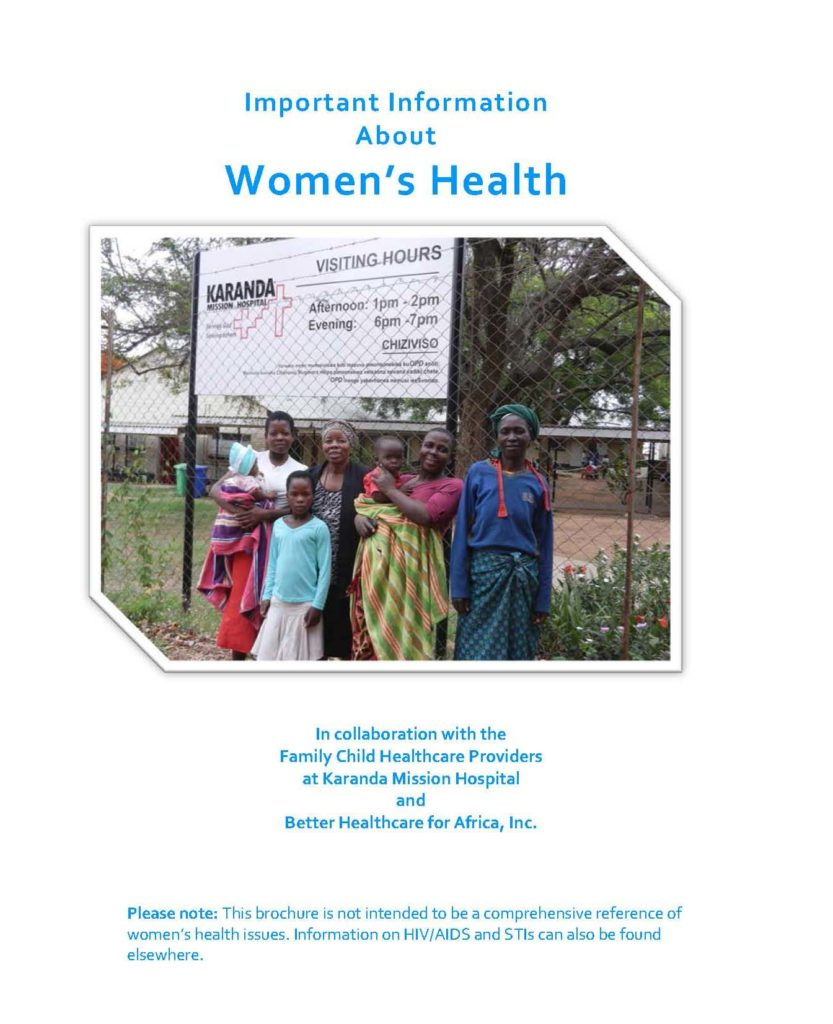 Image of the brochure Important Information About Women's Health, English version
